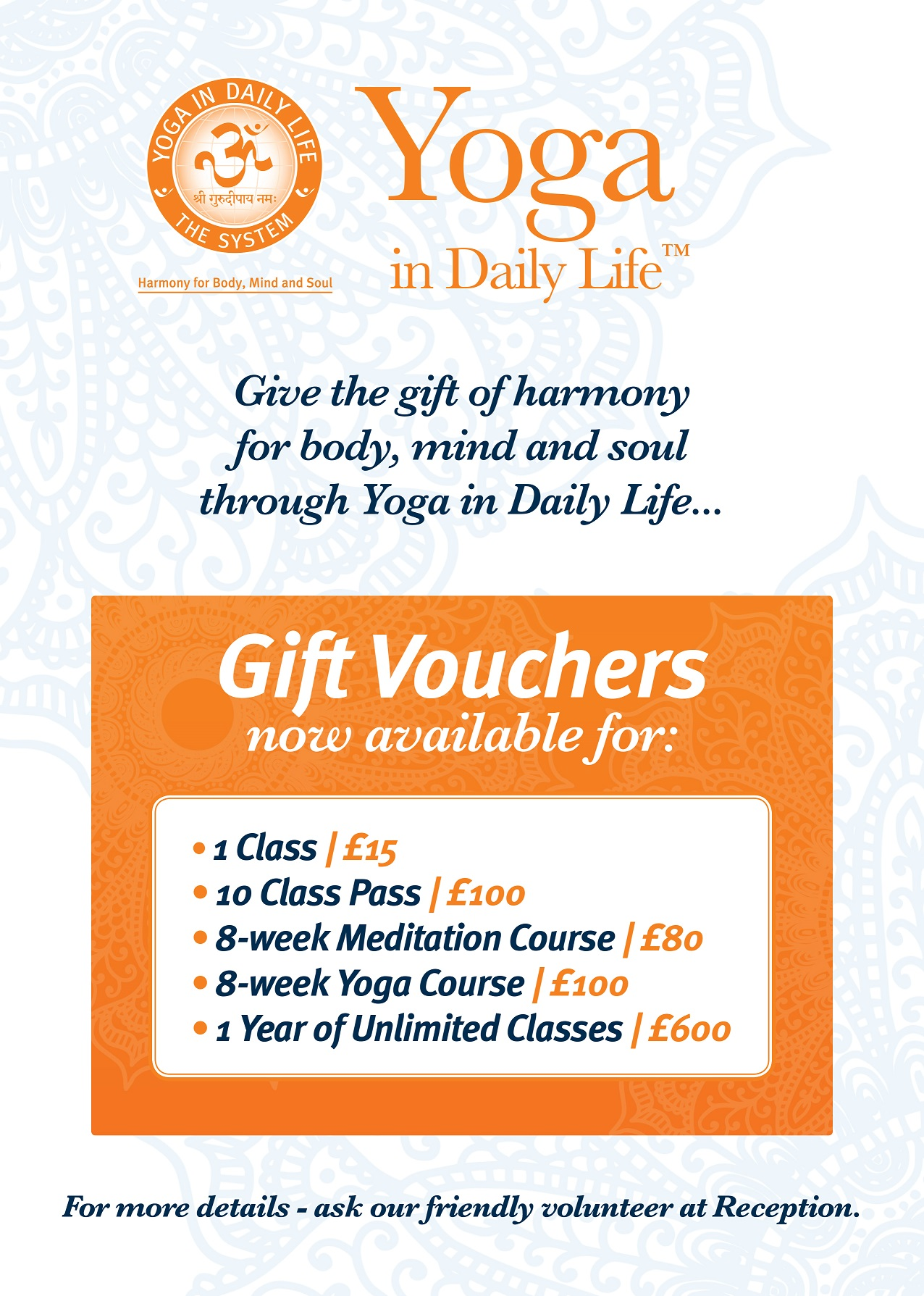Gift Vouchers Poster
