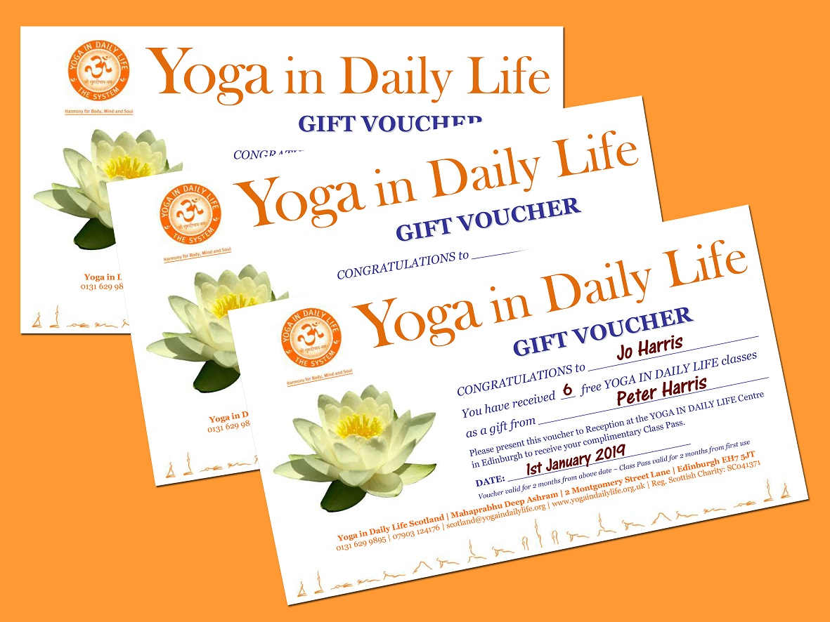 YIDL Scotland Gift Voucher samples x3